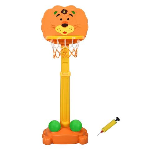 Costway Adjustable Kids 3-in-1 Sports Activity Center Tiger Basketball