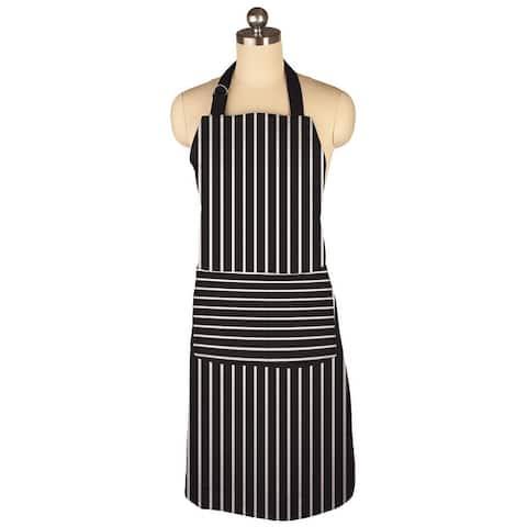 MU Kitchen Adjustable Herringbone Weave, Cotton Pinstripe Chef Apron, 35-Inches
