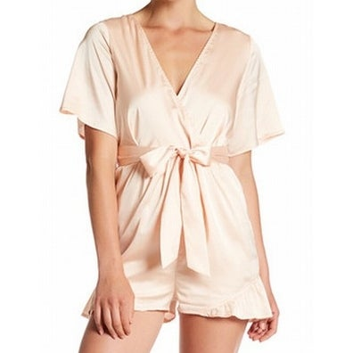d29ef5cc9698 Shop Love + Harmony NEW Beiges Womens Size Medium M Ruffle Satin Romper - Free  Shipping On Orders Over  45 - Overstock - 21015908