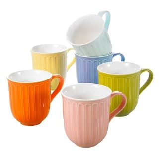Link to 10oz Multi-color Porcelain Coffee Mugs Service for 6 Similar Items in Dinnerware