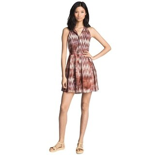 Elizabeth and James Molly Embellished Silk Halter Cocktail Day Dress