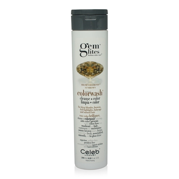 Celeb - Gemlites -Brown Diamond Colorwash Shampoo 8.25 Oz