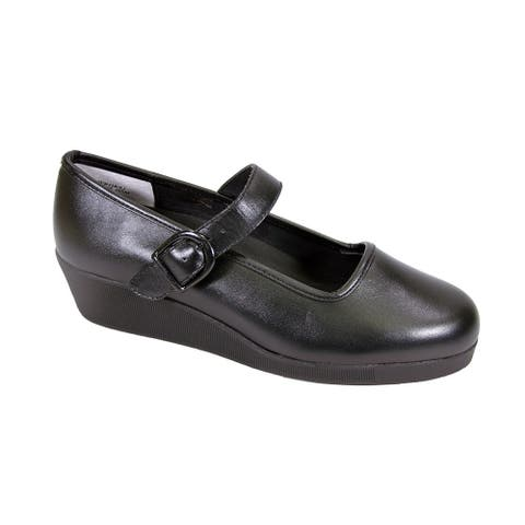 24 HOUR COMFORT Justine Women's Extra Wide Width Mary Jane Shoes