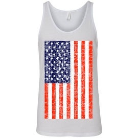 Men's Tank Top USA Flag American Pride Stars & Stripes Workout Gym Distressed