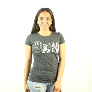 Doctor Who Detailed Street Crossing Women's Grey T-shirt