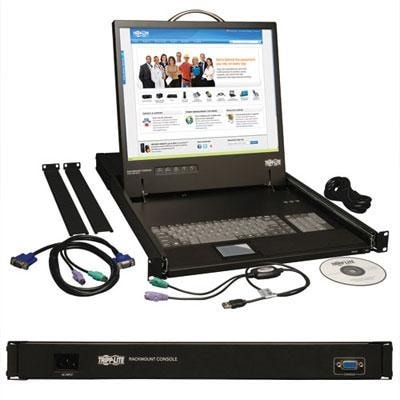 Tripp Lite B021-000-17 Kvm Console Unit 1U Rackmount With 19-Inch Lcd