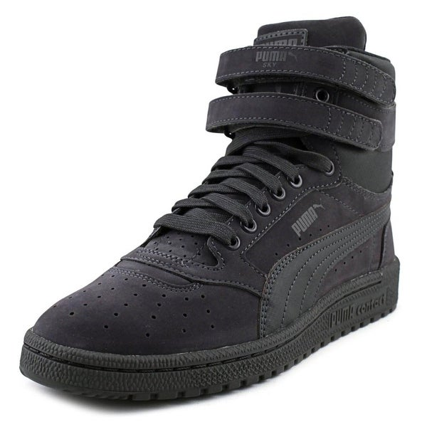12ca250519e9 Shop Puma Sky II Hi Youth Round Toe Suede Gray Sneakers - Free ...
