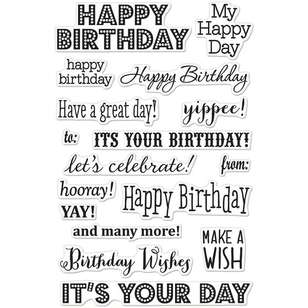"""Hero Arts Clear Stamps 4""""X6""""-It's Your Day"""
