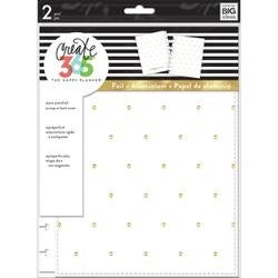 White With Gold Dots - Create 365 Classic Snap-In Hard Cover Planner