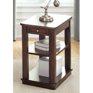 Link to Wallace Dark Toffee Chair Side Table Similar Items in Living Room Furniture