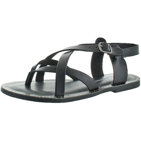 Shop Lucky Brand Jeans Adinis Womens Leather Flat Sandal