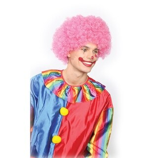 Pink Tall Afro Halloween Wig Costume Accessory- One Size Fits Most - One Size