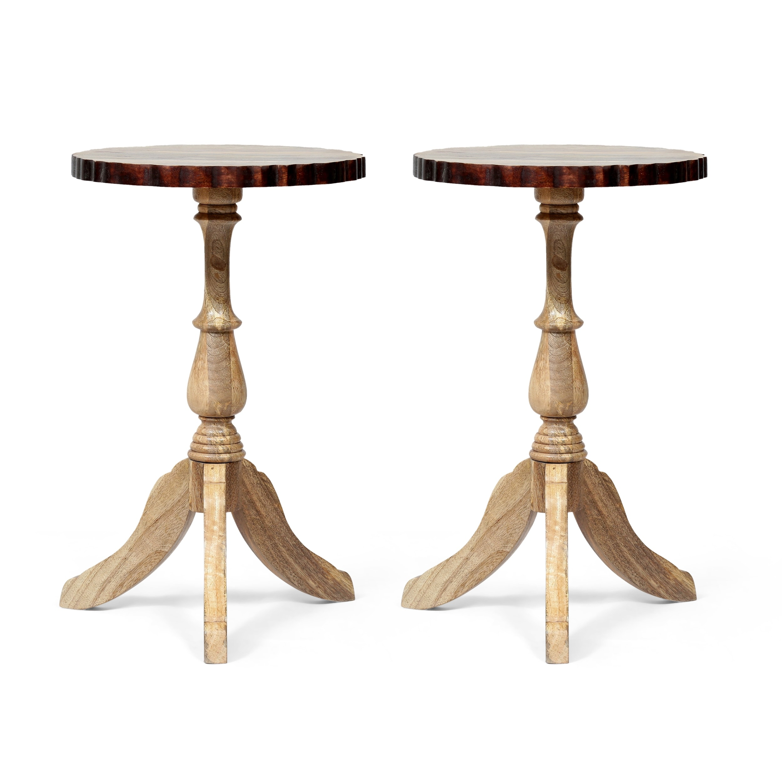Shop Mckay Mango Wood End Table Set O 2 By Christopher Knight Home Overstock 32007045
