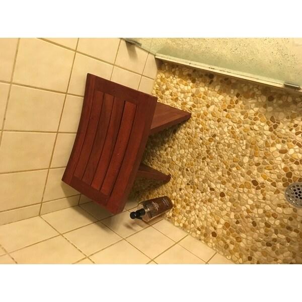 Shop Bare Decor Sofi Shower Stool in Solid Teak Wood - Free Shipping ...