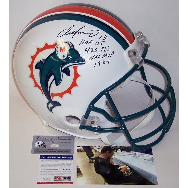 Shop Dan Marino Autographed Hand Signed Miami Dolphins Full Size Authentic  Helmet - PSA DNA - Free Shipping Today - Overstock - 12904855 3a48e96ca