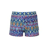 Sun Emporium Boys Multi Color Ikat Sun Protective Euroleg Shorts