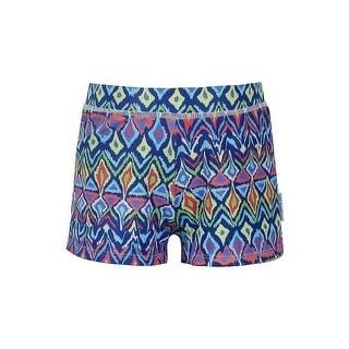 Sun Emporium Boys Multi Color Ikat Sun Protective Euroleg Shorts
