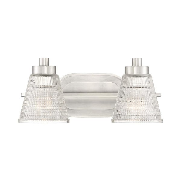 Quoizel Ard8602 Ardmore 2 Light 14 Wide Bathroom Vanity With Holophane Gl Brushed Nickel Free Shipping Today 22063546
