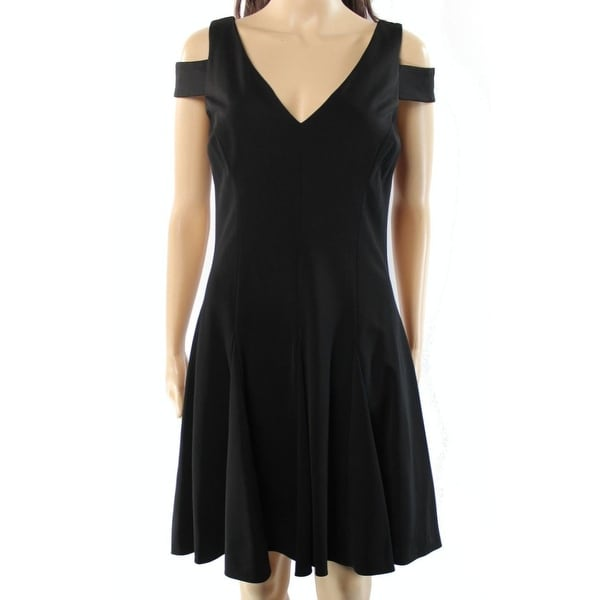 8b35ba3eb8f Lauren Ralph Lauren NEW Black Womens Size 6 Cold-Shoulder Sheath Dress