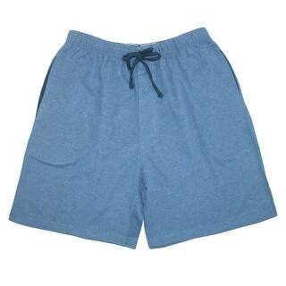 Hanes Men's Jersey Knit Cotton Button Fly Pajama Sleep Shorts