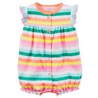 b865f22bd65 Carter s Baby Girls  Striped Cupcake Snap Up Romper ...