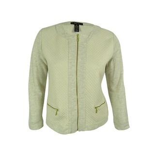Style & Co. Women's Zip-Front Metallic Quilted Jacket - pxl