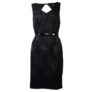 Ellen Tracy Women's Belted Floral Embroidered Dress - 8P