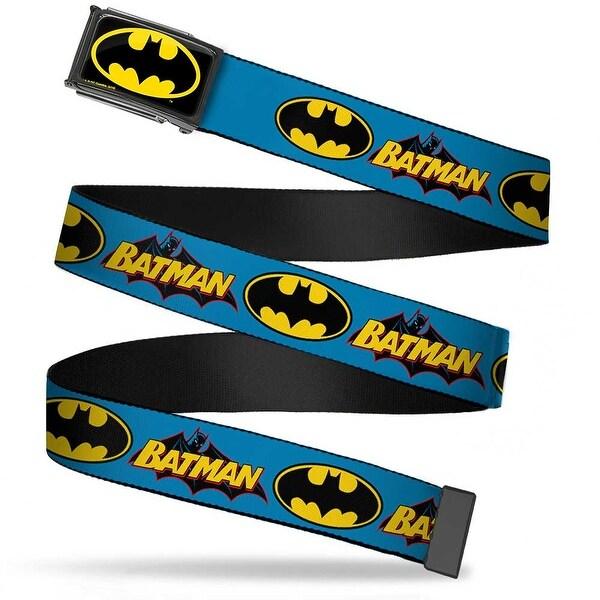 Batman Fcg Black Yellow Black Frame Vintage Batman Logo & Bat Signal Web Belt