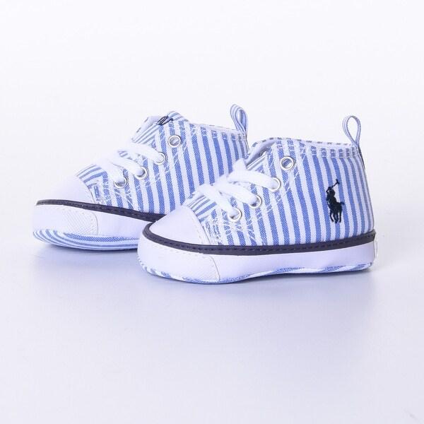 Babies' Striped Sneaker In Blue
