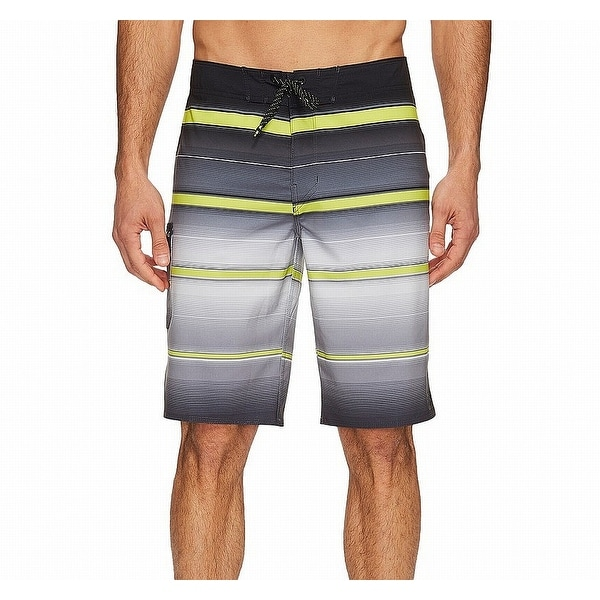 6a6db4437d Shop Billabong Black Mens Size 36 Stripe Swimwear Board Surf Shorts - Free  Shipping On Orders Over $45 - Overstock - 22320156