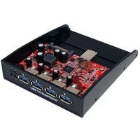 Startech - 35Bayusb3s4 4Port Usb 3.0 Drive Bay Hubn3.5In Or 5.25In Front Panel