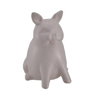 Light Powder Pink Ceramic Piggy Bank 9 inch