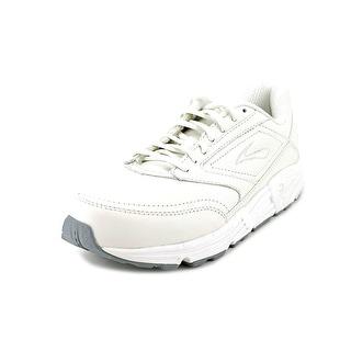 Brooks Addiction Walker Women 2E Round Toe Leather White Walking Shoe