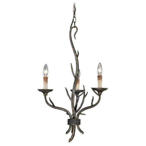 Vaxcel Lighting H0071 Monterey 3 Light Single Tier Chandelier - 18 Inches Wide
