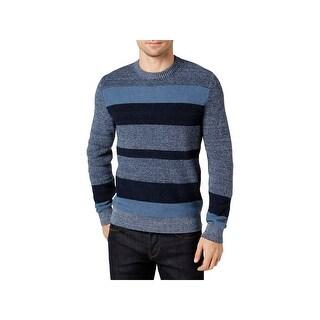 Tommy Hilfiger Mens Crewneck Sweater Knit Striped