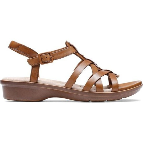 c6a1c910e Shop Clarks Women s Loomis Katey Strappy Sandal Tan Leather - Free Shipping  Today - Overstock - 27346942