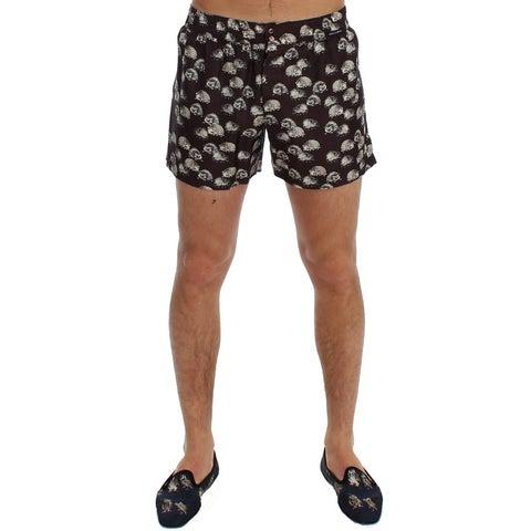 Dolce & Gabbana Dolce & Gabbana Purple Hedgehog SILK Pajama Shorts