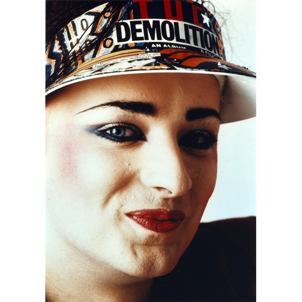 deb07035 Shop Boy George Womans smiling wearing Sun Visor Cap Close Up Portrait  Photo Print - Free Shipping On Orders Over $45 - Overstock - 25389818
