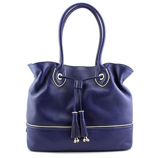 Cole Haan Reilly Tassel Tote Women Leather Blue Tote