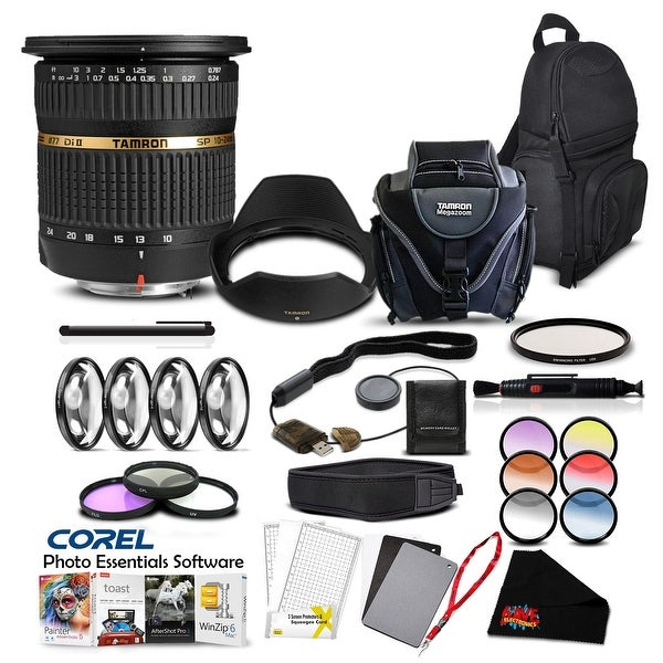 Tamron SP AF 10-24mm f / 3.5-4.5 DI II Lens For Pentax Pro Accessory Kit - black