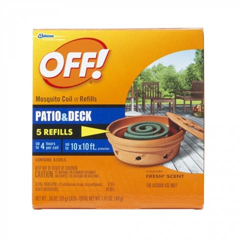 Off 75203 Patio And Deck Mosquito Coil Refill, 6-Count