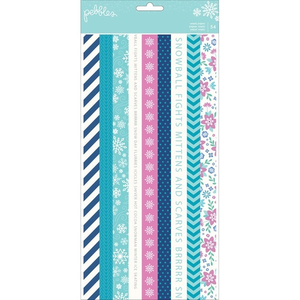 Winter Wonderland Washi Tape Booklet 6 Sheets 54/Pkg-