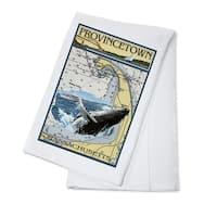 Provincetown, MA - Nautical Chart - LP Artwork (100% Cotton Towel Absorbent)