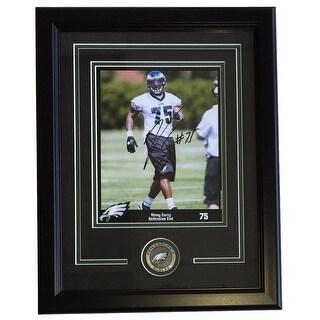 Vinny Curry Signed Framed 8x10 Philadelphia Eagles Photo SI