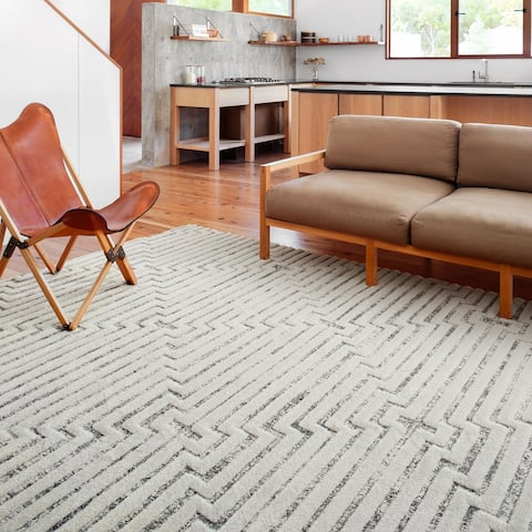 Alexander Home Vail Mid-century Modern Triangle Stripe Area Rug