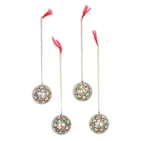 NOVICA Handmade Holiday Charm Papier mache ornaments (India) - 3