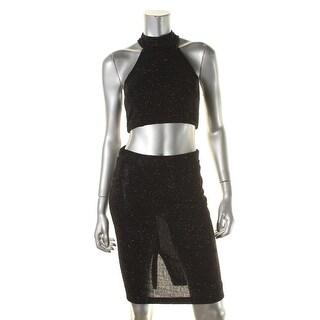 City Triangles Womens Juniors Crop Top Dress Embellished Sleeveless - 11