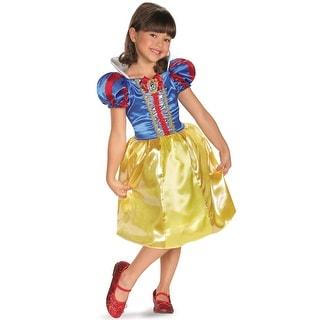 Disguise Disney Princess Snow White Sparkle Classic Child Costume - Blue/Yellow