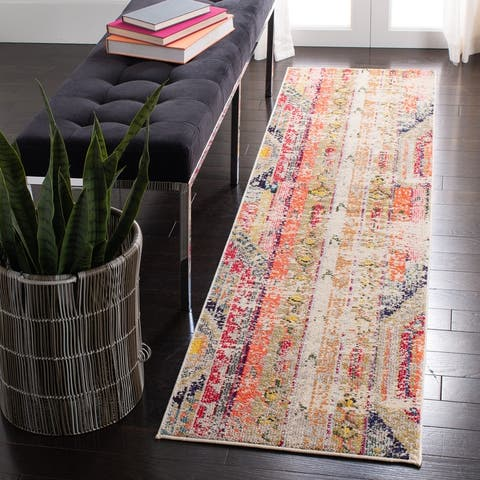Safavieh Madison Kasimira Abstract Boho Distressed Rug