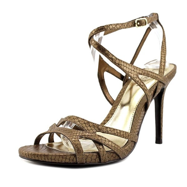 Lauren Ralph Lauren Talulla Women Open Toe Leather Gold Sandals